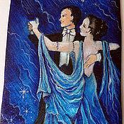 """Аксессуары ручной работы. Ярмарка Мастеров - ручная работа Галстук мужской шелковый """"Танец"""". Handmade."""