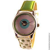 Украшения ручной работы. Ярмарка Мастеров - ручная работа Дизайнерские наручные часы Monster (Is Watching U :)). Handmade.