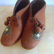 Обувь ручной работы. Ярмарка Мастеров - ручная работа Ботиночки валяные для дома. Handmade.