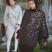 Одежда ручной работы. Ярмарка Мастеров - ручная работа Платье свитер с петлями. Handmade.