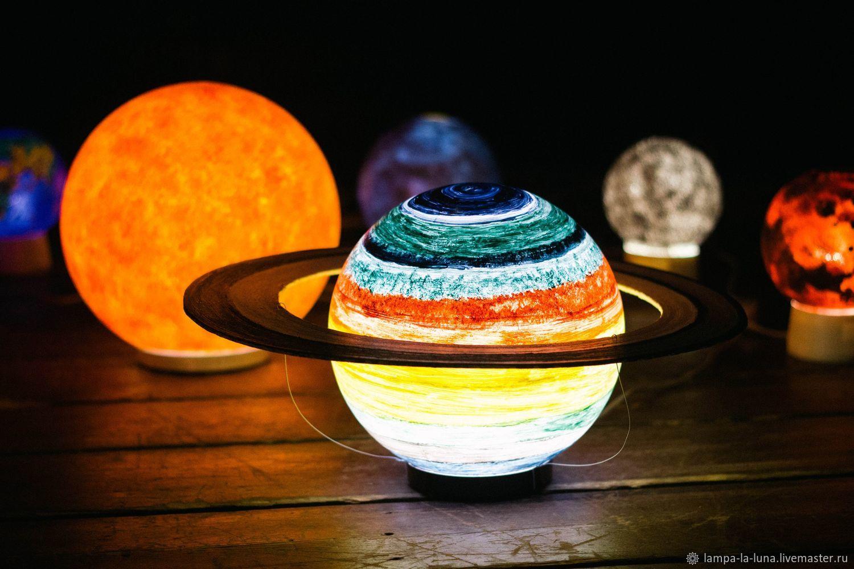 Светильник - Сатурн 25 см (светильник планета, ночник), Светильники, Санкт-Петербург, Фото №1