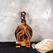 handmade. Livemaster - original item Cutting boards made of Siberian cedar 4 pcs. on a stand RDN14. Handmade.