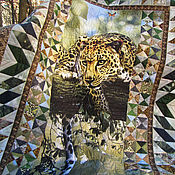 """Одеяла ручной работы. Ярмарка Мастеров - ручная работа Одеяло-покрывало лоскутное """"Дикая кошка"""". Handmade."""