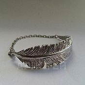 "Украшения handmade. Livemaster - original item Bracelet ""Feather"". Handmade."