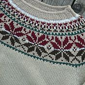 ee6c4b0335 Women s sweater with braids knitting a Bright twilight – shop online ...