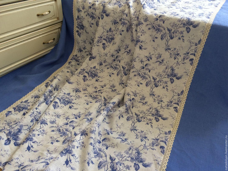 Home Textiles & Carpets handmade. Livemaster - handmade. Buy Flax PBC 'Morning in Gzhel' Euro-size.Flax