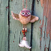 Куклы и игрушки handmade. Livemaster - original item Owl Spirits of the Barn - a wind-catcher, a lucky charm. Handmade.