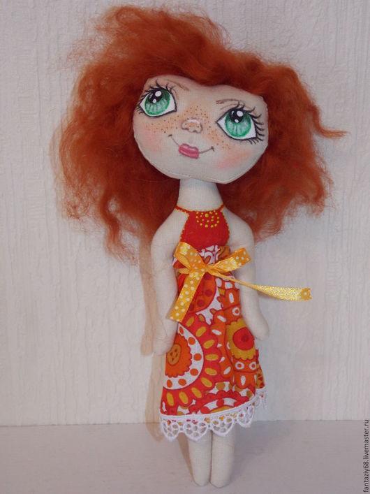 Человечки ручной работы. Ярмарка Мастеров - ручная работа. Купить Карманная куколка. Handmade. Рыжий, маленькая кукла, подарок