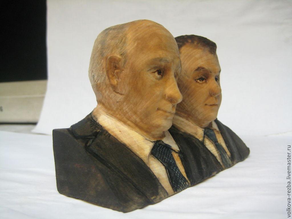 Портретные куклы ручной работы. Ярмарка Мастеров - ручная работа. Купить Портреты политических деятелей и др.. резьба по дереву. Handmade.