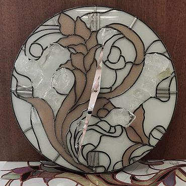 """Для дома и интерьера ручной работы. Ярмарка Мастеров - ручная работа Часы: """"Хрустальный цветок"""". Handmade."""
