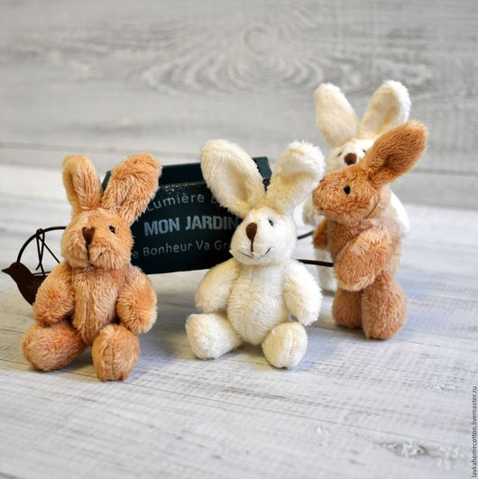 Кролик 11см для кукол, 2 цвета