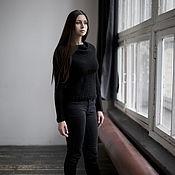 Одежда ручной работы. Ярмарка Мастеров - ручная работа Черный свитер-трансформер. Handmade.