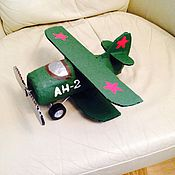 Куклы и игрушки ручной работы. Ярмарка Мастеров - ручная работа Поделка самолет. Handmade.