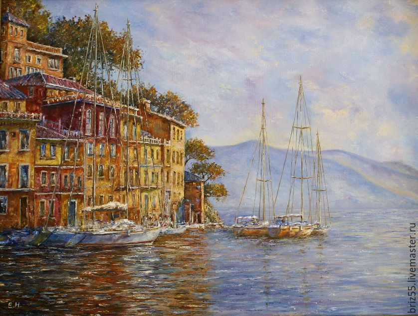 Oil painting Morning in Portofino, Pictures, Zelenograd,  Фото №1