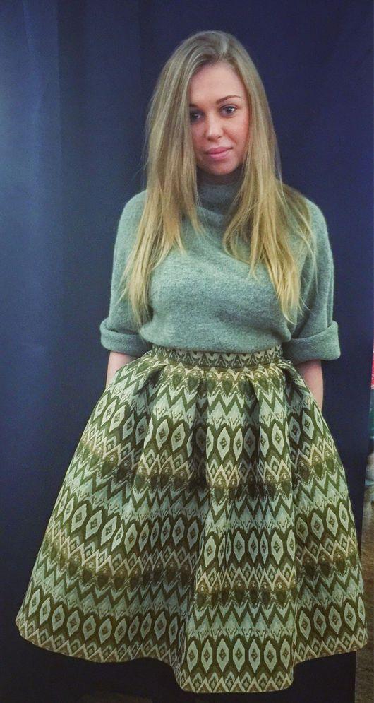 """Юбки ручной работы. Ярмарка Мастеров - ручная работа. Купить Юбка """"Павлиний хвост"""". Handmade. Пышная юбка, юбка с карманами"""