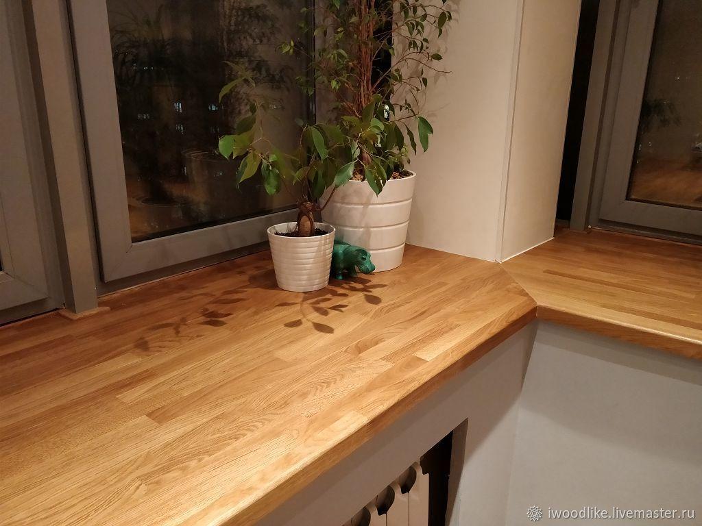 Подоконник из дерева, Кухонная мебель, Химки,  Фото №1