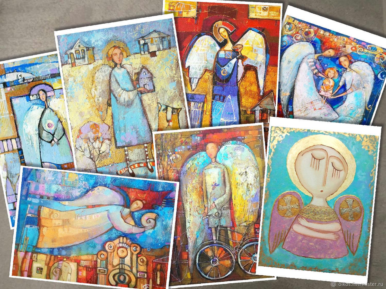 7 Открыток с Ангелами подарок на рождество украшение в детскую, Открытки, Санкт-Петербург,  Фото №1