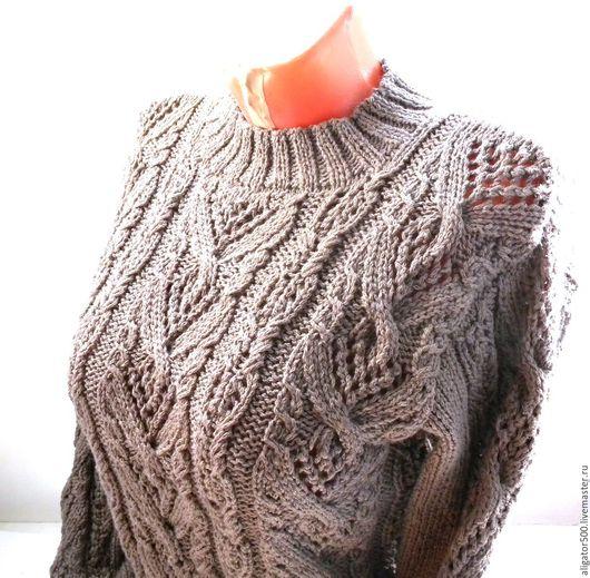 Пуловер с кокеткой доставка