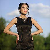 Одежда ручной работы. Ярмарка Мастеров - ручная работа 270: летнее платье без рукавов, офисное платье по фигуре на лето. Handmade.