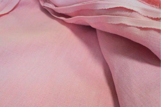 Шитье ручной работы. Ярмарка Мастеров - ручная работа. Купить Итальянский лен розово-персикового цвета. Handmade. Итальянские ткани