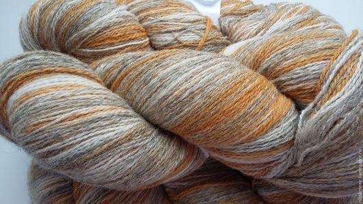 Вязание ручной работы. Ярмарка Мастеров - ручная работа. Купить Кауни Sand 8/2. Handmade. Желтый, серый, песок, овечья