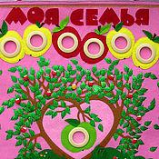 Для дома и интерьера ручной работы. Ярмарка Мастеров - ручная работа Родословная Молодо-зелено (Моя семья). Handmade.