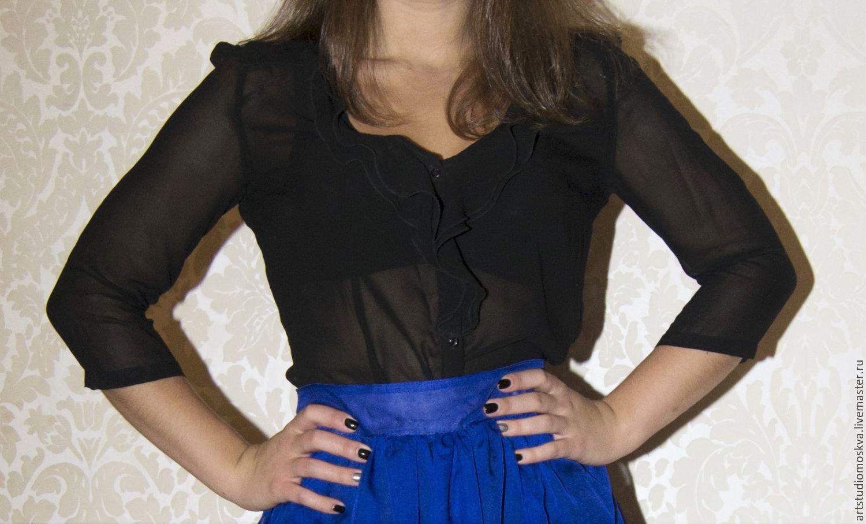 Блузка С Жабо Интернет Магазин