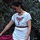 """Блузки ручной работы. Заказать Вышитая блузка """"Красные цветочки"""". СЛАВный стиль от Заряны. Ярмарка Мастеров. Подарок любимой"""