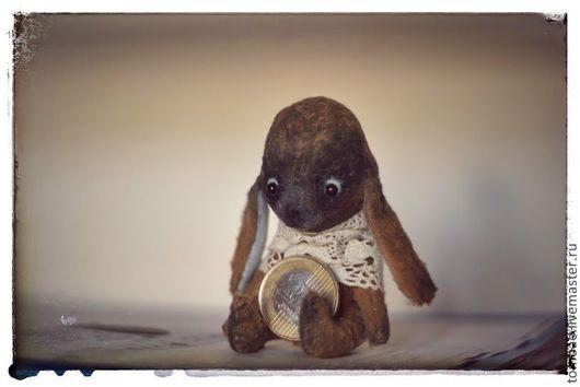 Мишки Тедди ручной работы. Ярмарка Мастеров - ручная работа. Купить любимый зайка Уц и его подружка собачка. Handmade.