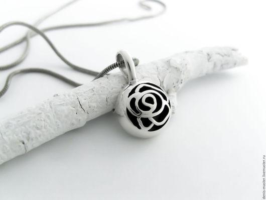 """Кулоны, подвески ручной работы. Ярмарка Мастеров - ручная работа. Купить Кулон из серебра """"роза""""(серебро 925). Handmade. Белый"""
