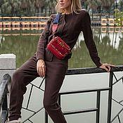 Одежда ручной работы. Ярмарка Мастеров - ручная работа Кашемировый костюм на молнии Коричневый. Handmade.