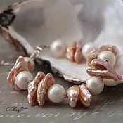 Украшения handmade. Livemaster - original item bracelet of natural pearls