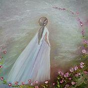 Картины и панно ручной работы. Ярмарка Мастеров - ручная работа Девушка и небо. Handmade.
