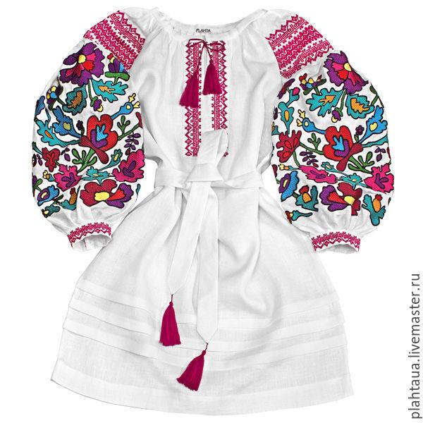 Платья ручной работы. Ярмарка Мастеров - ручная работа. Купить Платье- вышиванка  Цветочная ... 1e1be3a7a4955