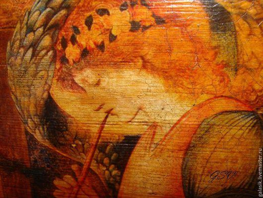 """Иконы ручной работы. Ярмарка Мастеров - ручная работа. Купить Панно """"Рождественский ангел"""". Handmade. Ангел, подарок на новый год"""