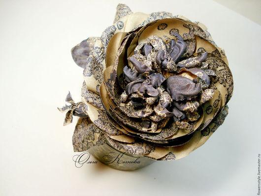 Броши ручной работы. Ярмарка Мастеров - ручная работа. Купить Брошь из шелка Роза винтажная Цветы из шелка Брошь цветок. Handmade.