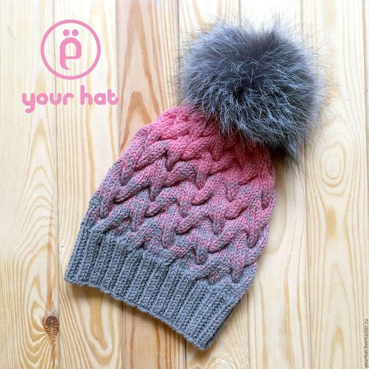 Теплая шапка 100% шерсть мериноса (немецкая пряжа)