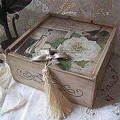 """Для дома и интерьера ручной работы. Ярмарка Мастеров - ручная работа Короб """"Ретро"""". Handmade."""