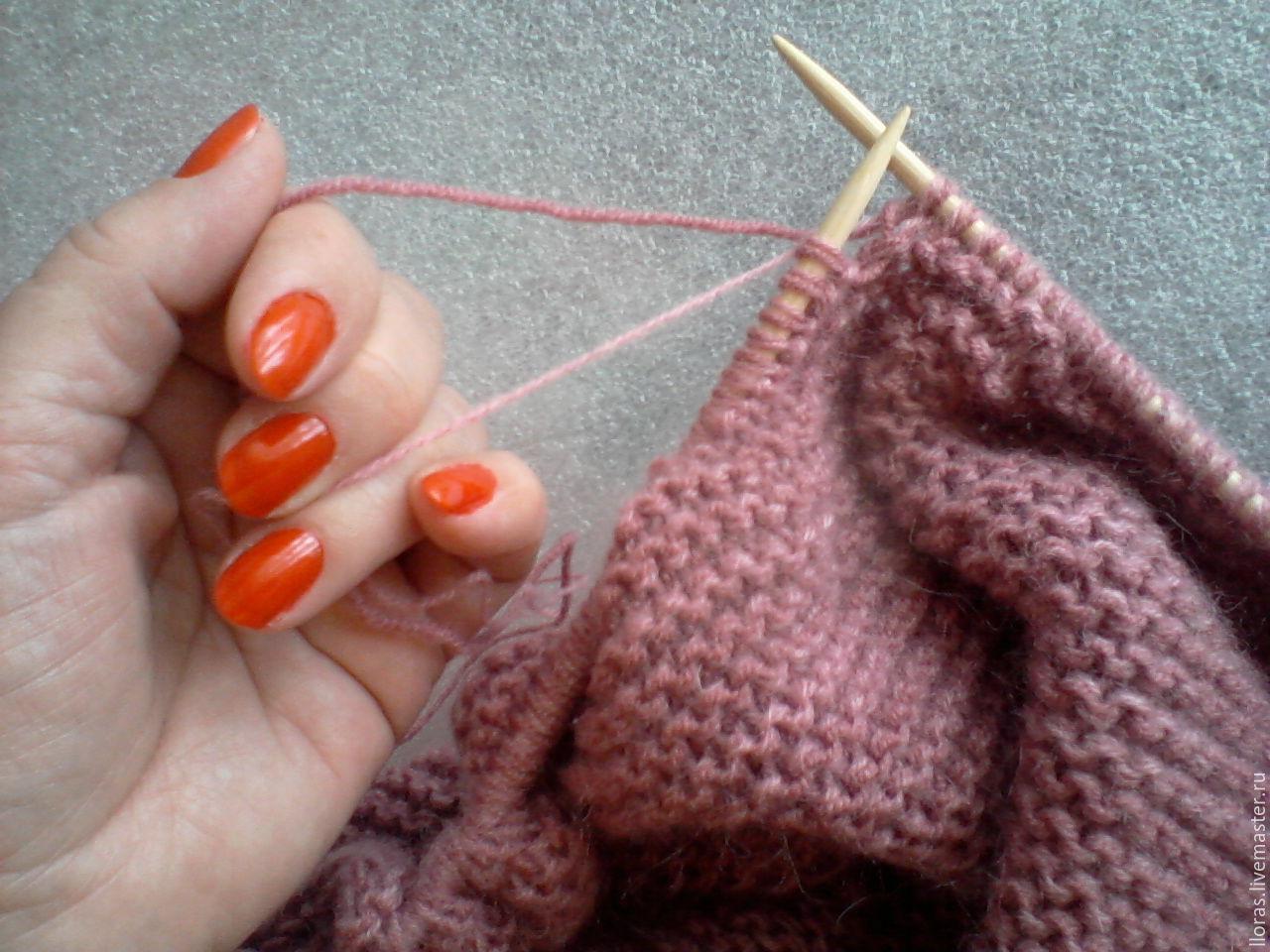 Вязание двумя видами пряжи