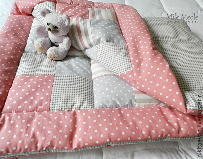Лоскутное одеяло, детское 120/80 см