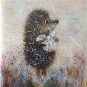 Картины и панно handmade. Livemaster - original item Hedgehog in the Fog. Handmade.