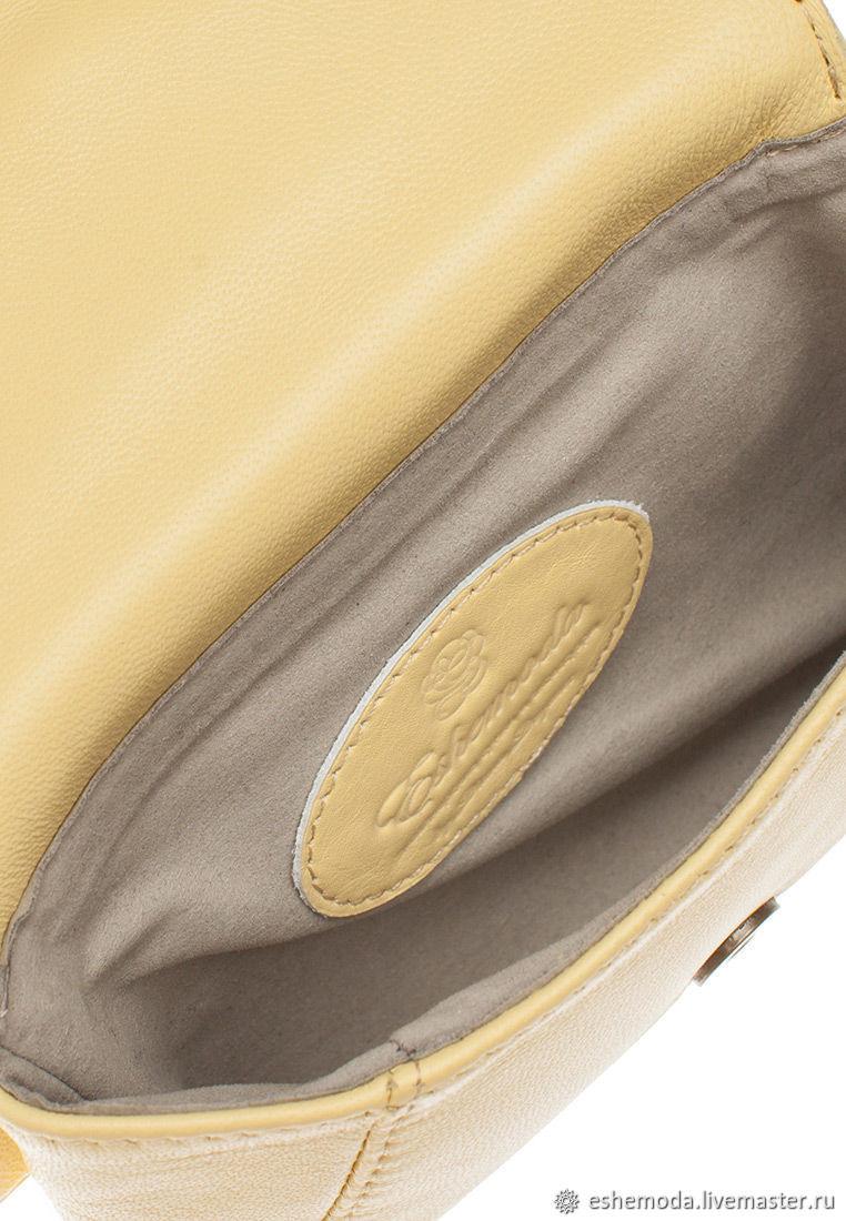 8b5821e683e3 Поясные сумки ручной работы. Поясная сумка с фурнитурой 'Орел' , лимон.  Eshemoda