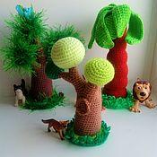 Куклы и игрушки handmade. Livemaster - original item Fairy forest. Knitted decorations for puppet theatre. Handmade.