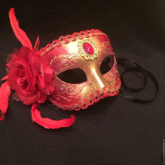 """Карнавальные костюмы ручной работы. Ярмарка Мастеров - ручная работа. Купить Карнавальная маска """"Роксолана"""". Handmade. Ярко-красный, маскарад"""