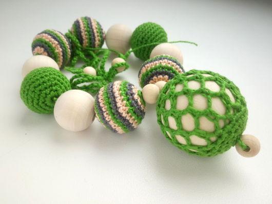 Слингобусы ручной работы. Ярмарка Мастеров - ручная работа. Купить Слингобусы зелёные, слингокулон зелёный. Handmade. Абрикосовый, слингобусы