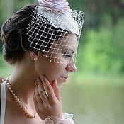 Свадебный салон ручной работы. Ярмарка Мастеров - ручная работа +++Шляпка-вуалетка Кремовая Роза+++. Handmade.
