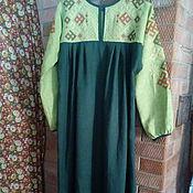 Русский стиль ручной работы. Ярмарка Мастеров - ручная работа платье льняное. Handmade.