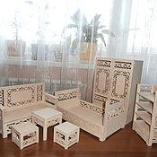 Куклы и игрушки handmade. Livemaster - original item doll furniture. set. Handmade.