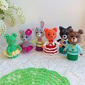 Куклы и игрушки handmade. Livemaster - original item Finger knit theatre Teremok. Handmade.