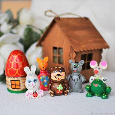 Куклы и игрушки ручной работы. Ярмарка Мастеров - ручная работа Сказка мини-театр в подвесном домике.5 видов. Handmade.